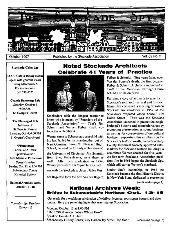 image of Stockade Spy October 1997