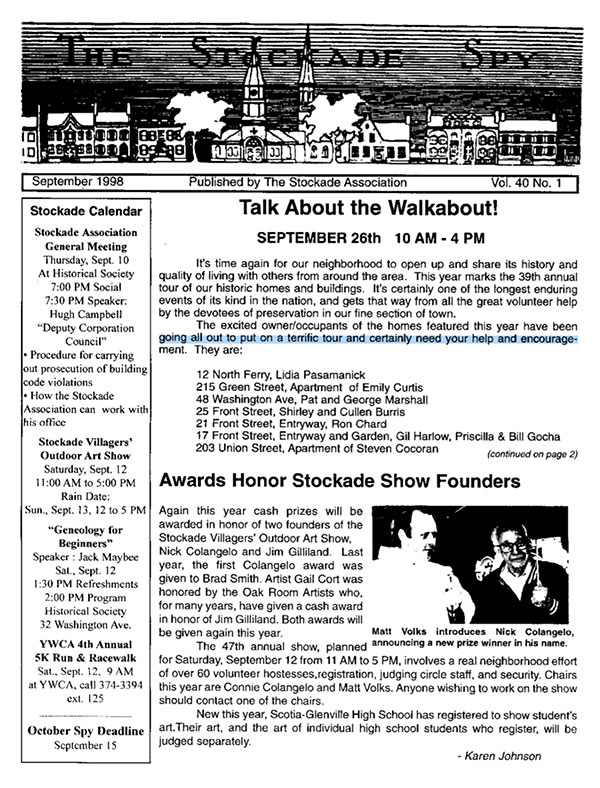 image of Stockade Spy September 1998