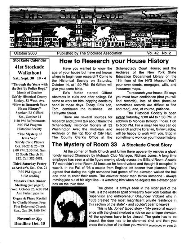 Stockade Spy October 2000 cover