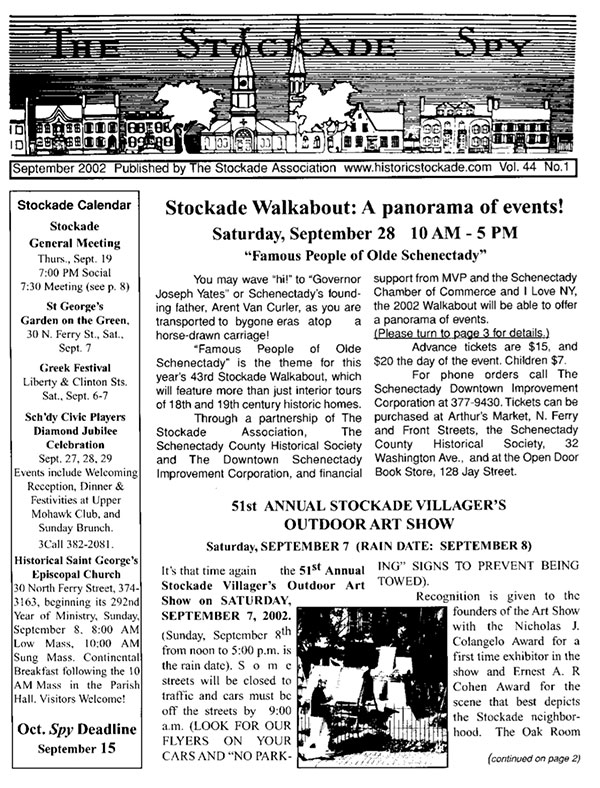 Stockade Spy September 2002 cover