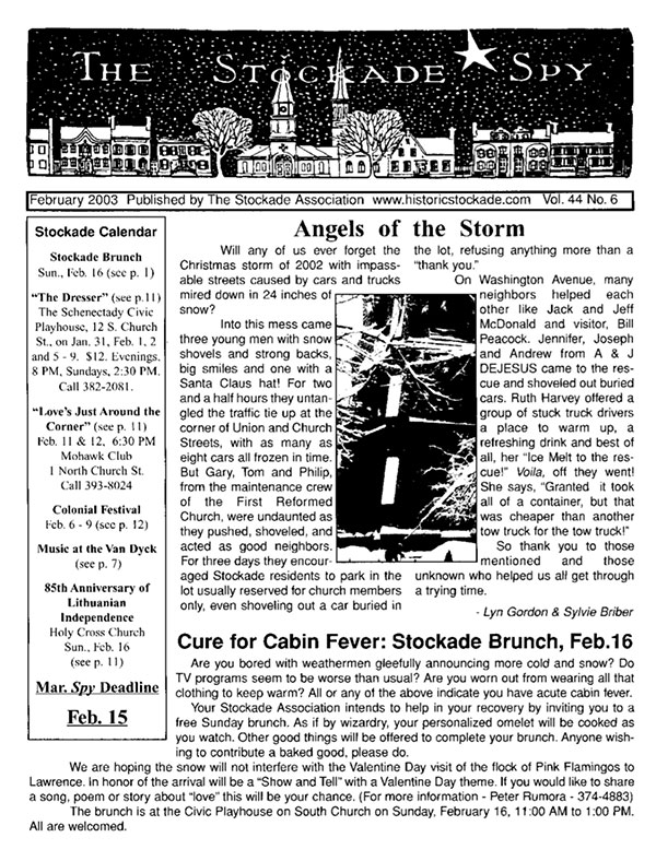 image of Stockade Spy February 2003