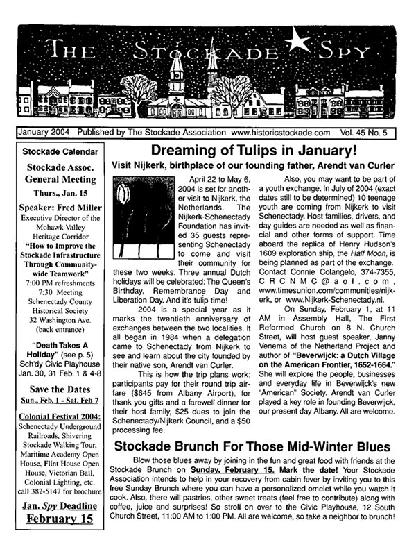 Stockade Spy January 2004 cover