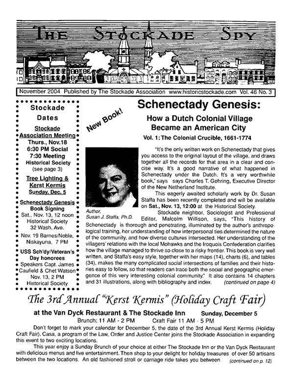 Stockade Spy November 2004 cover