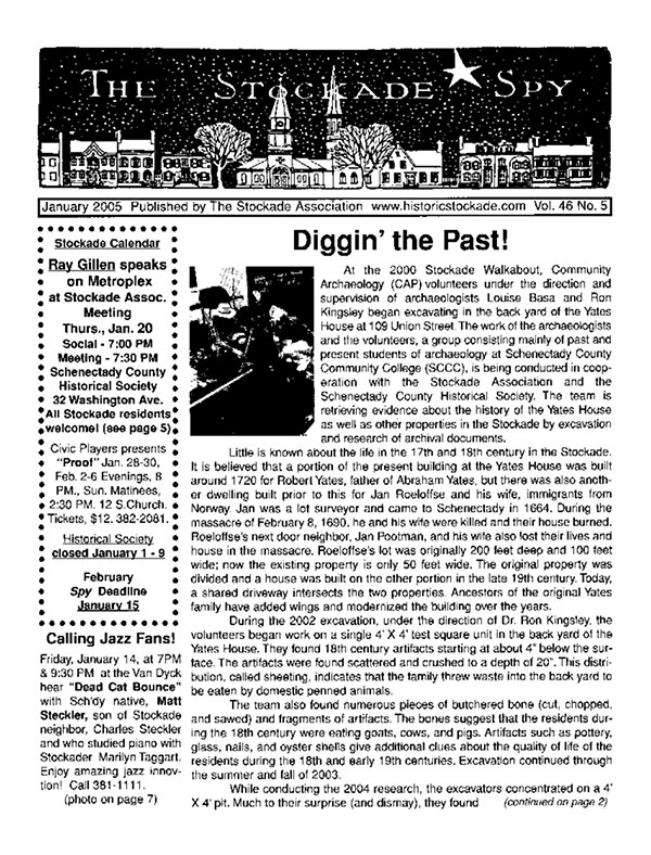 image of Stockade Spy January 2005