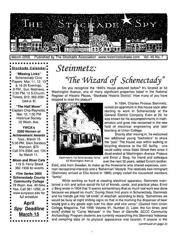image of Stockade Spy March 2005