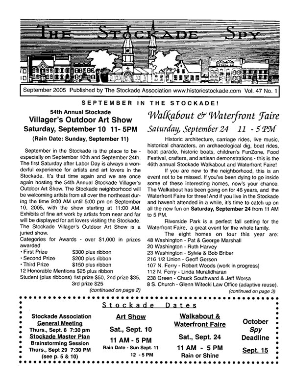 image of Stockade Spy September 2005