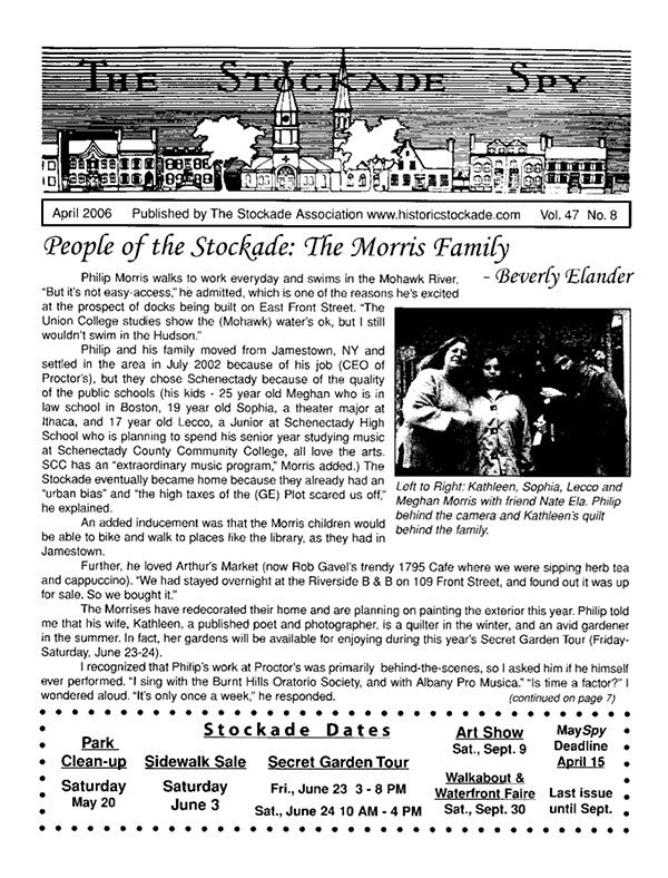 Stockade Spy April 2006 cover