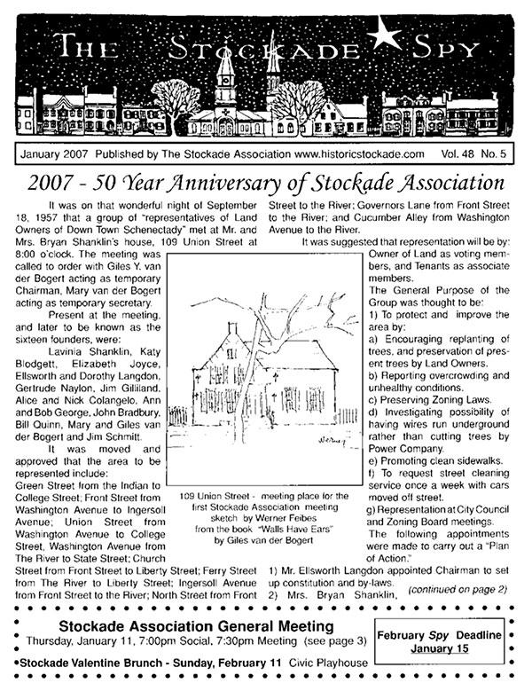 image of Stockade Spy January 2007