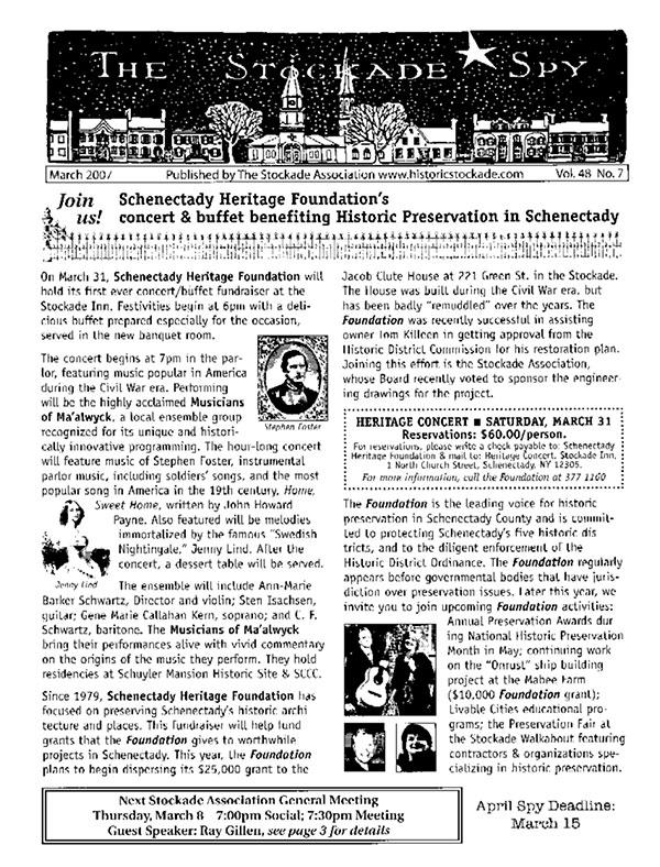 image of Stockade Spy March 2007
