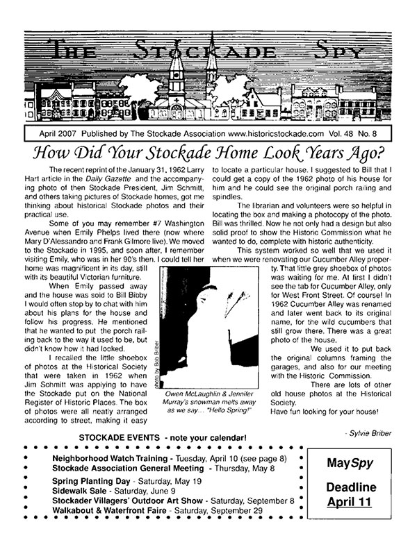 image of Stockade Spy April 2007