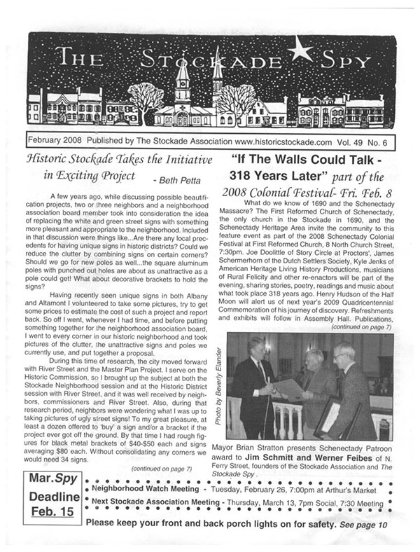 image of Stockade Spy February 2008