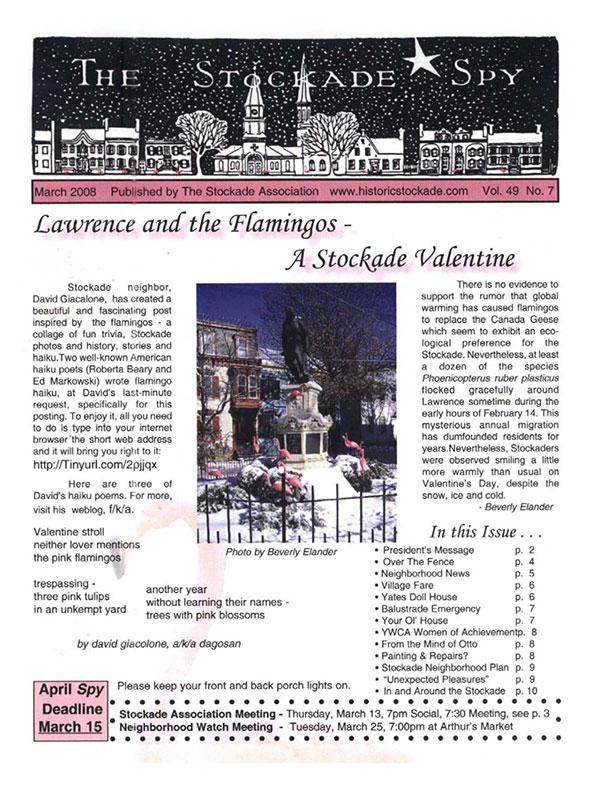 Stockade Spy March 2008 cover
