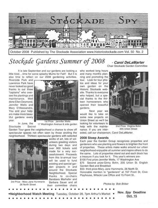 image of Stockade Spy October 2008