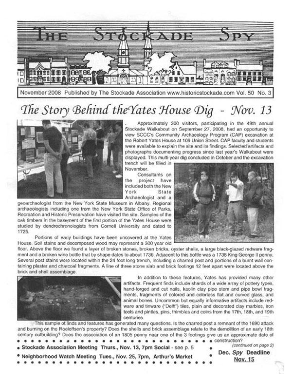 image of Stockade Spy November 2008
