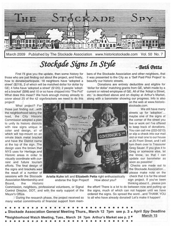 image of Stockade Spy March 2009