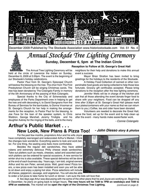 Stockade Spy December 2009 cover