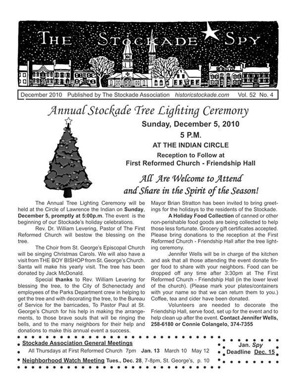 Stockade Spy December 2010 cover