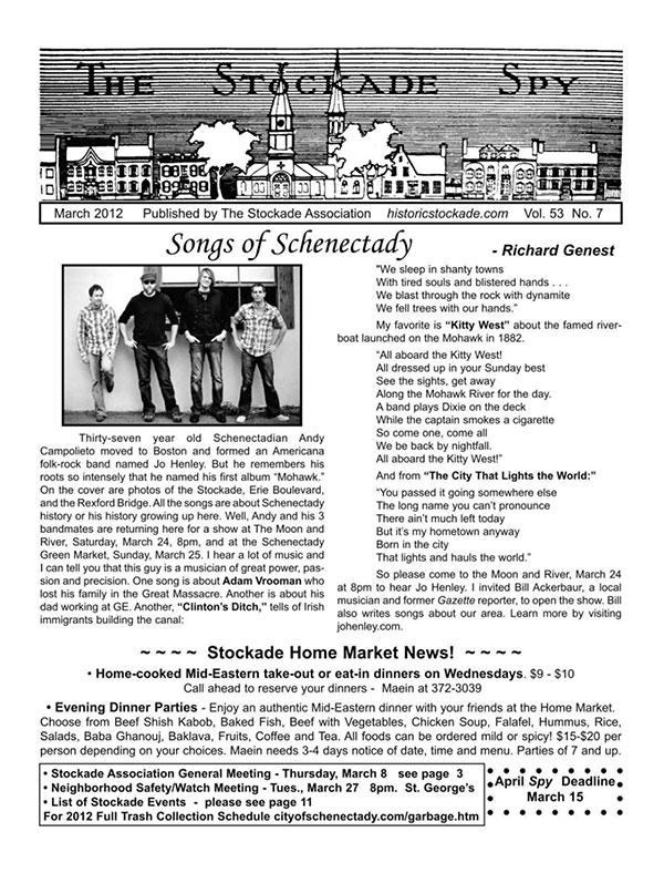 image of Stockade Spy March 2012