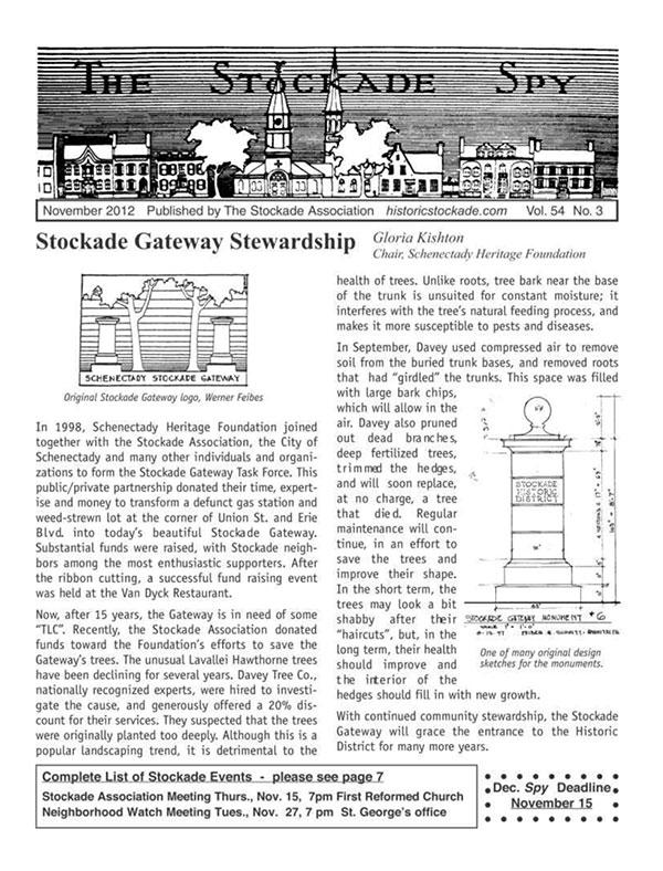 Stockade Spy November 2012 cover
