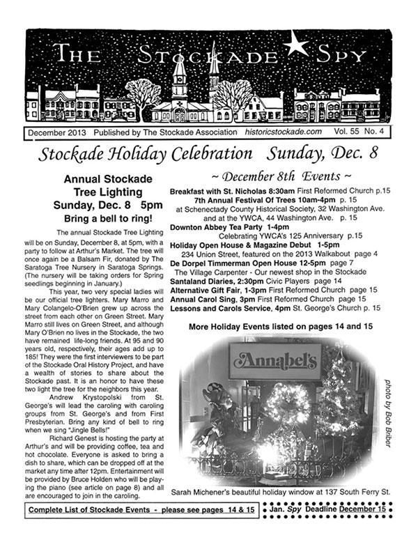 Stockade Spy December 2013 cover