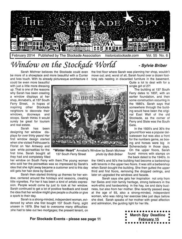 image of Stockade Spy February 2014