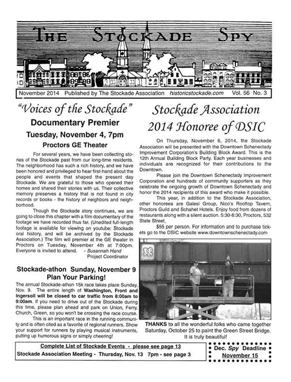 image of Stockade Spy November 2014