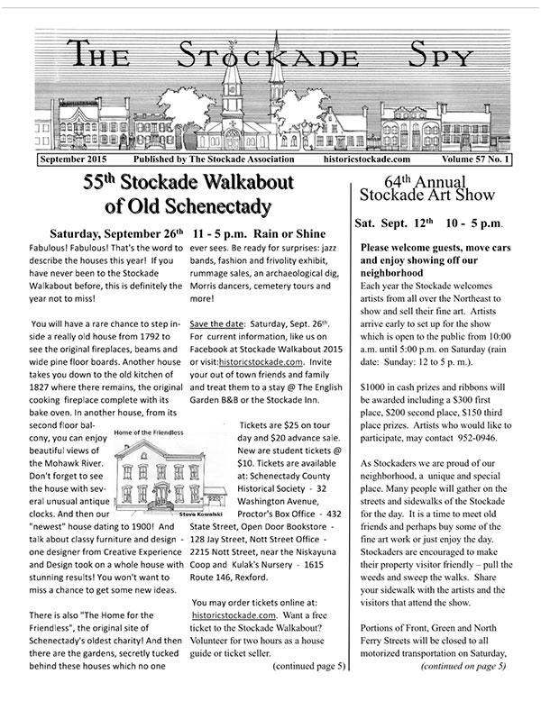 image of Stockade Spy September 2015