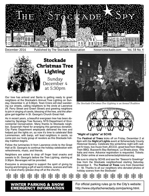 Stockade Spy December 2016 cover