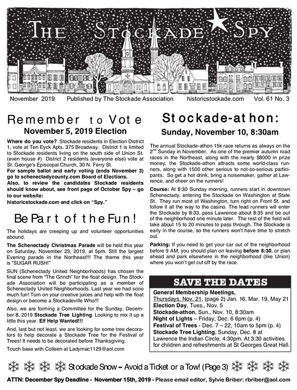 image of Stockade Spy November 2019