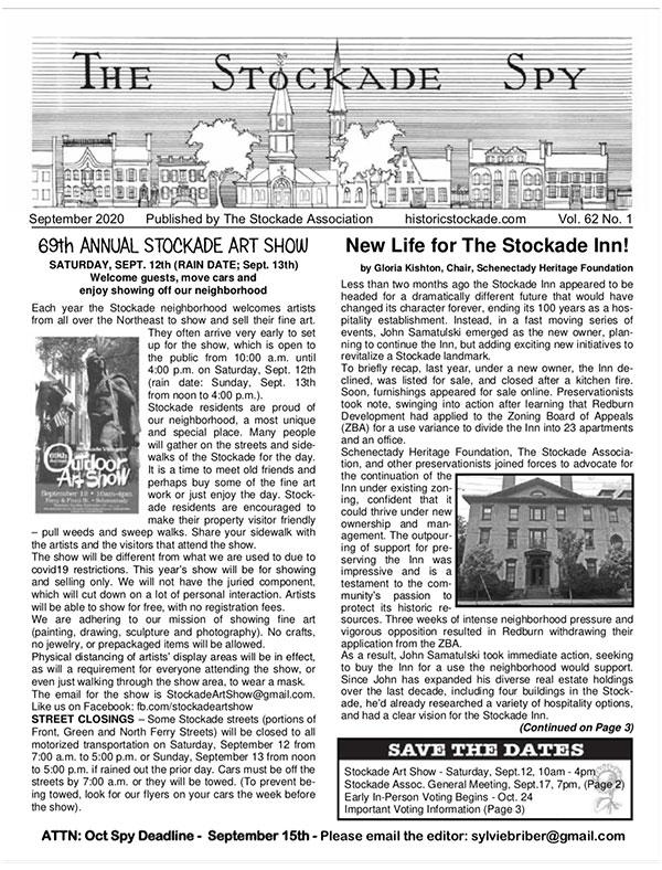 Stockade Spy September 2020 cover