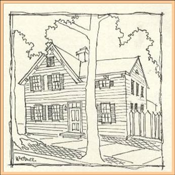 old house drawing