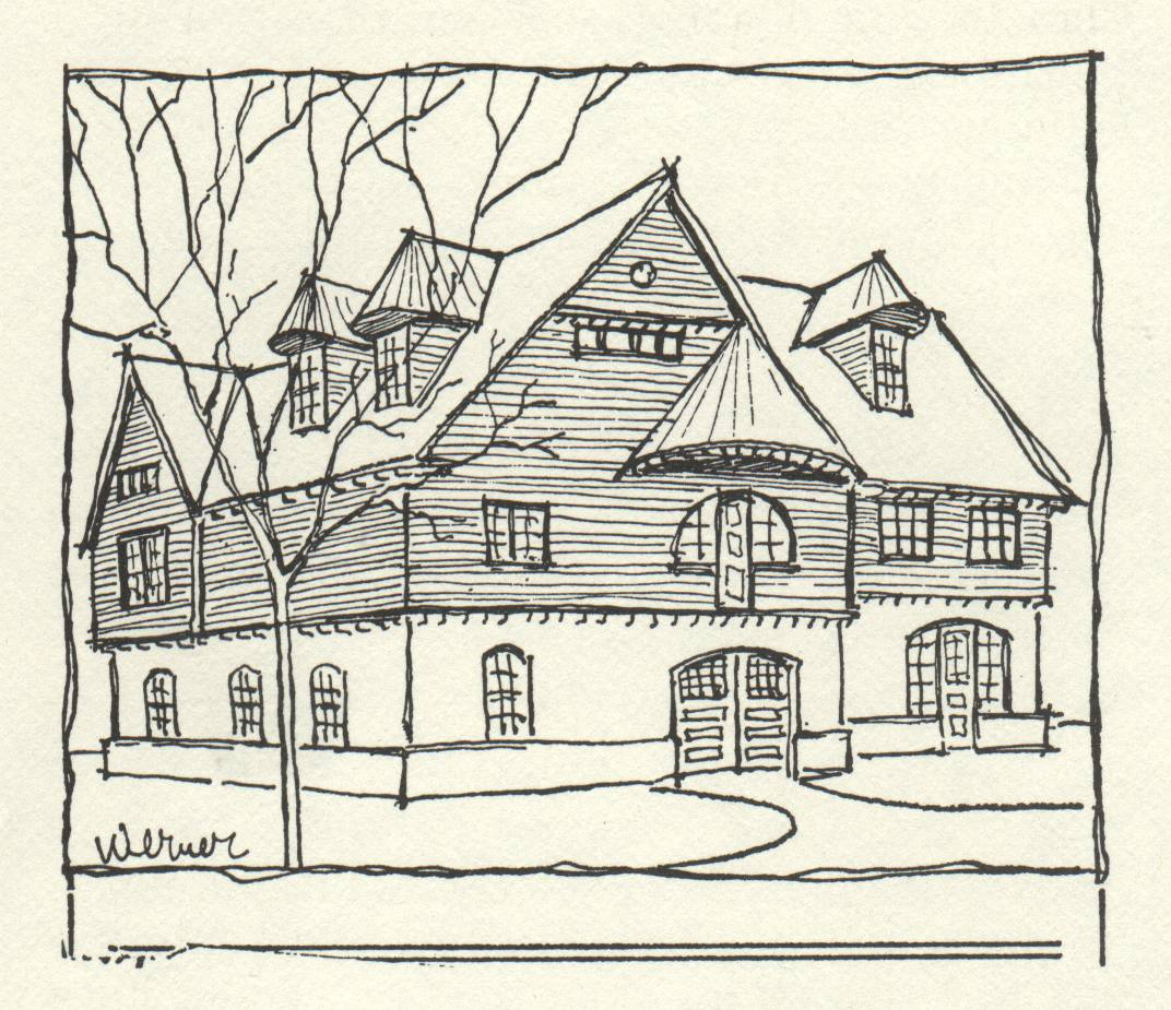 drawing of large old house