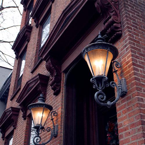 Old Lights on Brick House