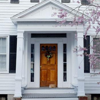 white house wooden door